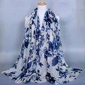 10 pçs/lote mista padrão Floral Viscose xale 2016 moda Foulard mulheres de Viscose de algodão envoltório baixada xailes cachecóis muçulmano Hijabs