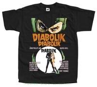 Модная футболка крутой для хипстеров, топы Diabolik, постер фильма, 1968 футболка черная, все размеры S до 5xl Pp