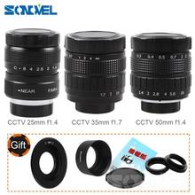 FUJIAN 35mm F1.7 CCTV Movie lens + 25mm f1.4 TV Lens + 50mm f1.4 TV Lens voor Panasonic Olympus Micro 4/3 m4/3 OM D GH3 GX8 GX7