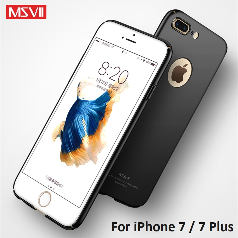 For Apple iPhone 7 Case MSVII Brand Luxury Thin Case For Apple iPhone 7 Cover Full Protection Hard PC iPhone 7 Plus Fitted Case
