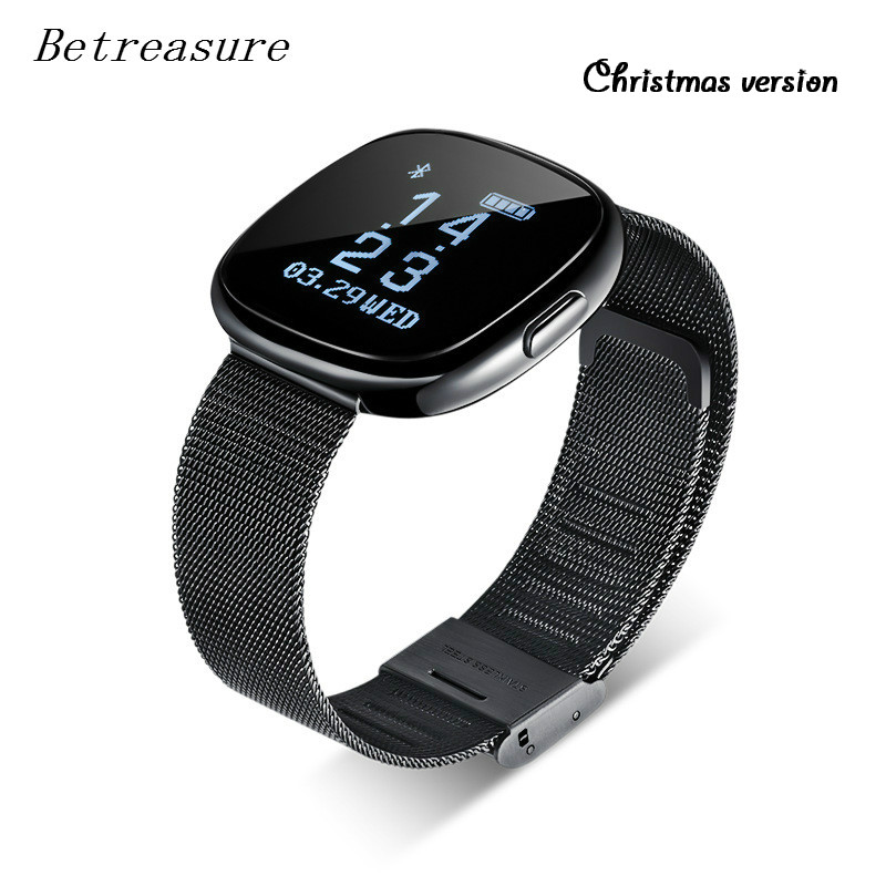 Betreasure P2 Smart WristBand Bluetooth Blood Pressure Monitor Smart Band Waterproof Fitness Tracker Smart Bracelet Xmas Version