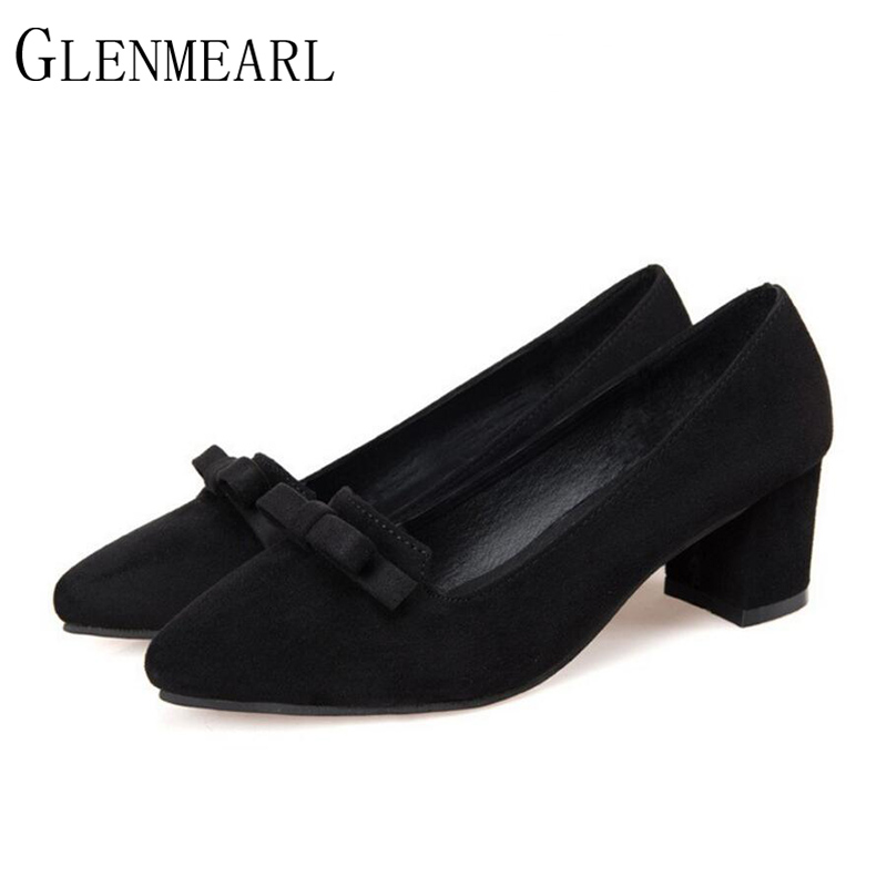 2017 Suede Women Pumps Spring New Fashion Brand Bow Platform High Heels Red Black Pointed Female High-heeled Wedding Shoes XP35 цена 2016