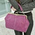 Винтаж матовая кожа женщины сумочка Мода Корейских женщин плеча сумки Крючком Сумка Известный Бренд Небольшая Сумка Сумка