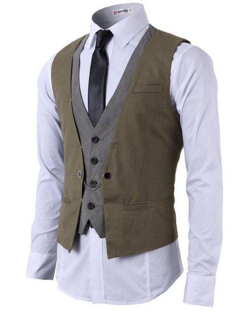O envio gratuito de 2016 Novos homens colete Fashion Colete Masculino Do Casamento Do Noivo Slim Fit Coletes À Prova de Vestido feito Sob Encomenda Mais tamanho