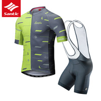 Santic Cycling Jersey Set Men Triathlon Cycling Skinsuit 2019 Pro Team MTB Road Bike Bicycle Jersey Clothing Ropa Ciclismo