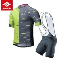Santic conjunto camisa de ciclismo men triathlon ciclismo skinsuit 2019 pro equipe mtb bicicleta estrada camisa roupas ropa ciclismo|Kits ciclismo|   -