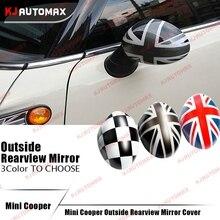 Un Par Para Mini Cooper R55 R56 R57 R60 R61 ABS Union Jack Campesino Tapa Cubierta Del Espejo Lateral Retrovisor exterior Shell Accesorios