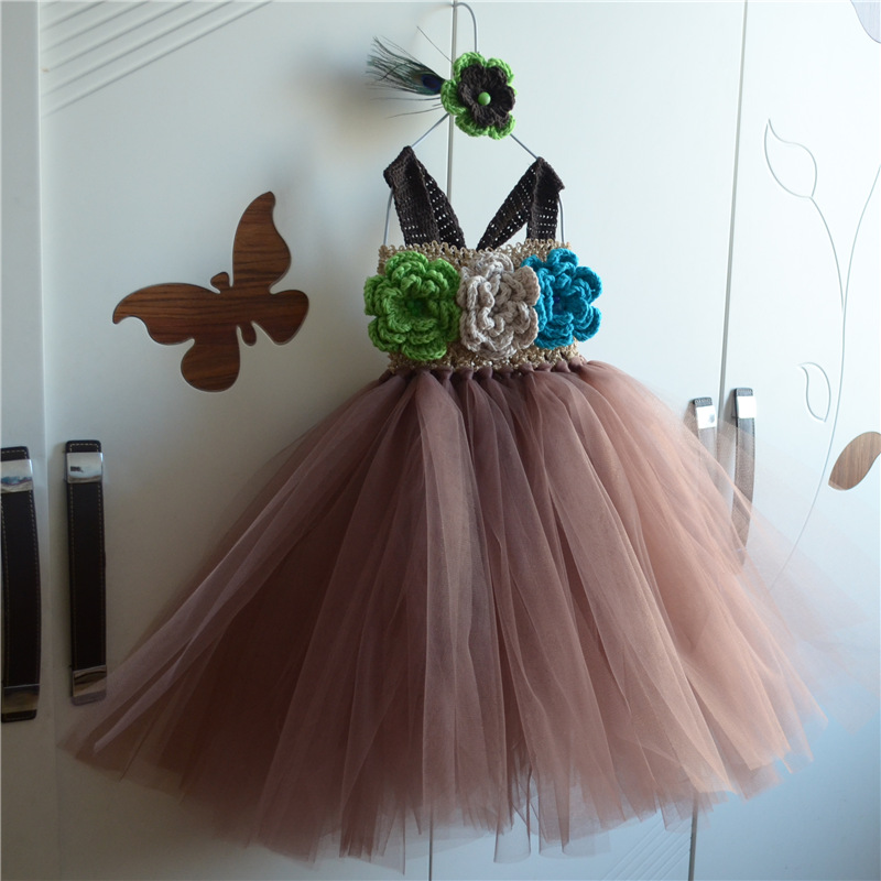 Rockstar Queen Girls Dress Birthday Outfit Photo Prop flowers Costume Little Girl Tutu Dress Funking Girls Dresses
