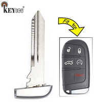 KEYECU for Jeep Chrysler Dodge Replacement Smart Emergency Car Key Remote  Insert Blade Blank Case Fob FCC: M3N-40821302