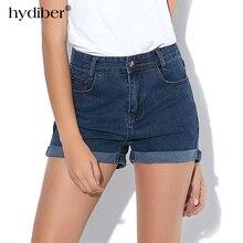 HYDIBER New Fashion women's jeans Summer High Waist Stretch Denim Shorts Slim Korean Casual women Jeans Shorts Hot Plus Size