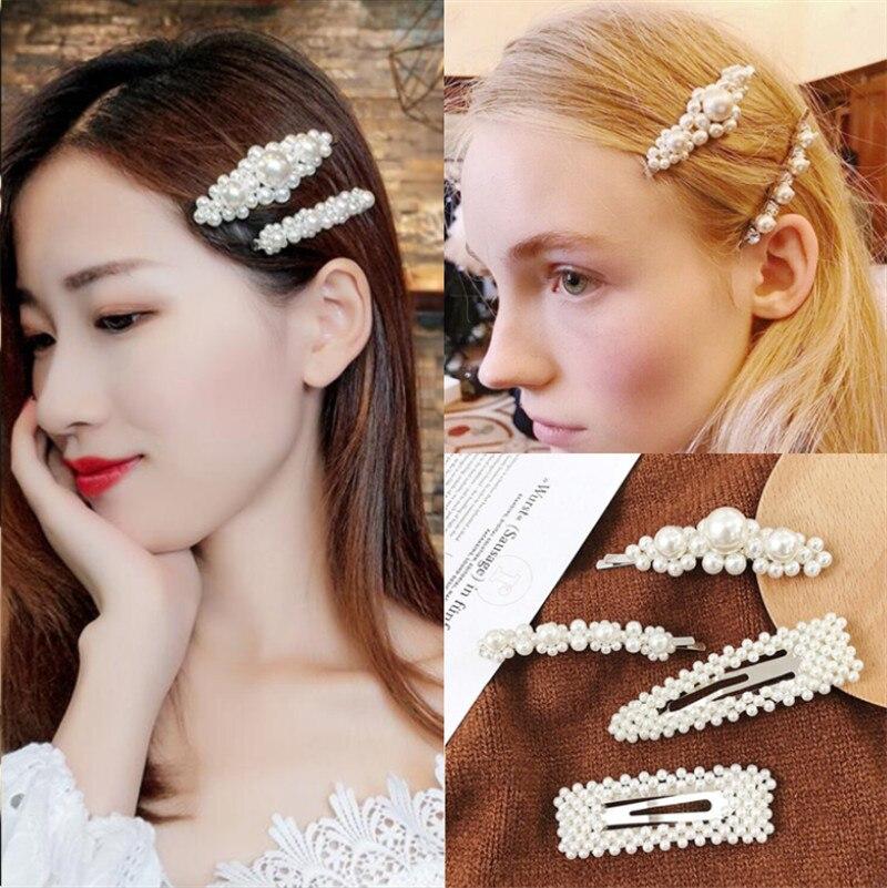 Hair Style Girl 2019: 2019 Popular Fashion Pearl Hairgrip Women Girls Hair Clips
