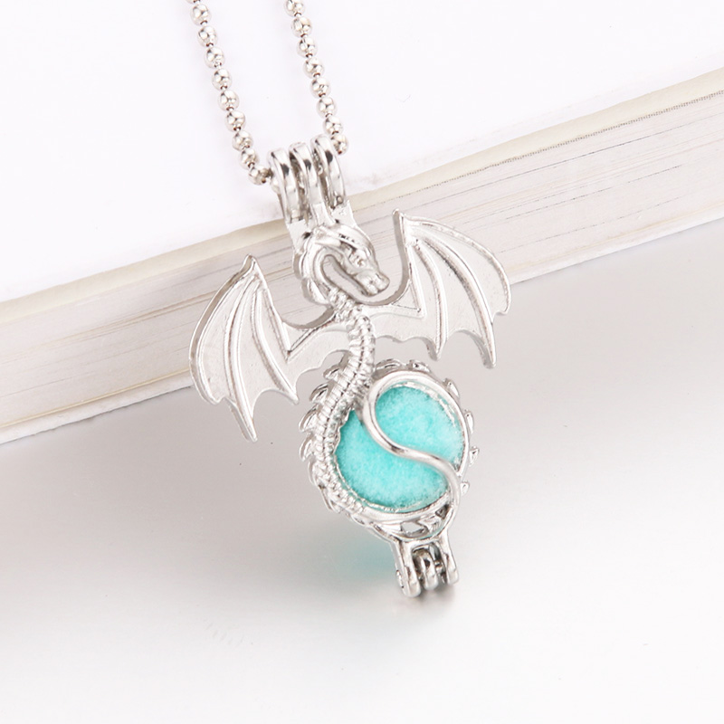 New Dragon  harmPearl Cage Pendant Essential Aroma Perfume Locket For Necklace Jewelry Open lock Love Wish Jewelry locket