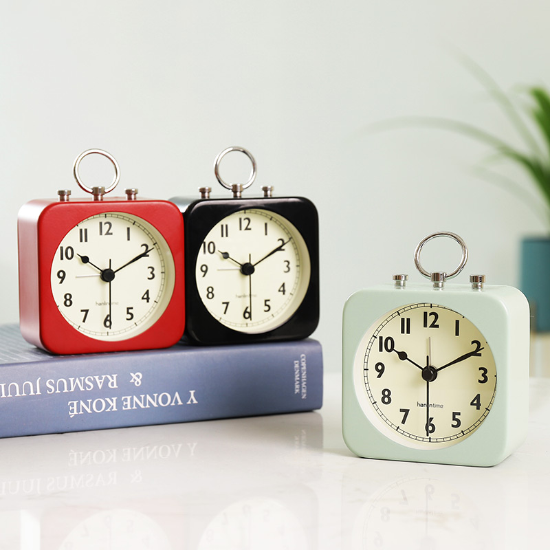 Table Top Watch Accessories Simple Children Alarm Clock Metal Alarm Clock Creative Student Dormitory Bed Mute