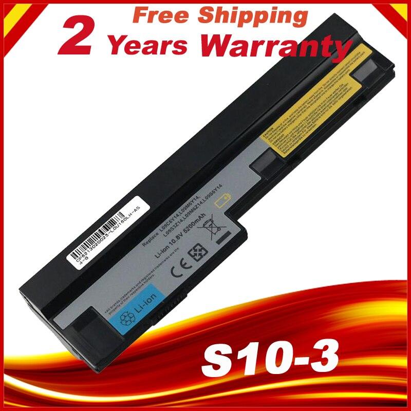 HSW 5200mAh 11.1v laptop battery for Lenovo IdeaPad S100 S10-3 S205 S110 U160 S100c S205s U165 L09S6Y14 L09M6Y14 6 cells цена