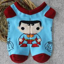 1 par new Hot sale Anime Superhero Figura Brinquedos Dos Desenhos Animados Socks fresco superman bat Cosplay shorty Meias Presente(China)