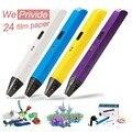 Creativa 1.75mm abs/pla diy smart 3d pluma impresión 3d pen pintura dibujo pen manija + filamento + adaptador para los niños del diseño de la pintada