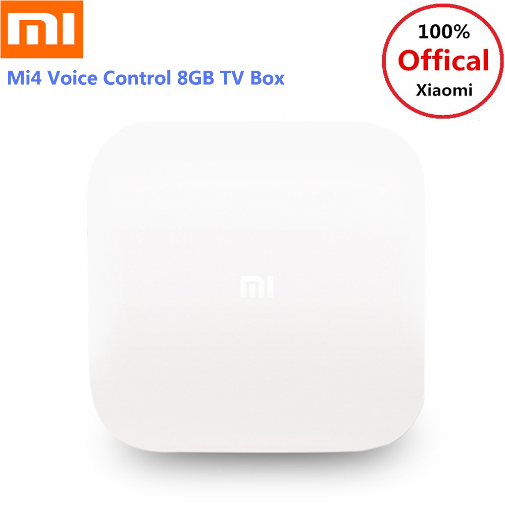 Xiaomi Mi4 Android TV Box Voice Control Bluetooth 4.1+EDR Amlogic S905L 2GB 8GB 2.4G Wi-Fi Supports 4K HDR Set Top Box For TV original xiaomi mi4c patchwall tv box 1gb 8gb amlogic s905l 2 4g wi fi bluetooth set top box supports 4k hd smart media player