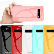 Luxury Tempered Glass Case For Samsung Galaxy S10 Plus Cover S10E 5G S9 Note 8 note 9 Candy Color Hard