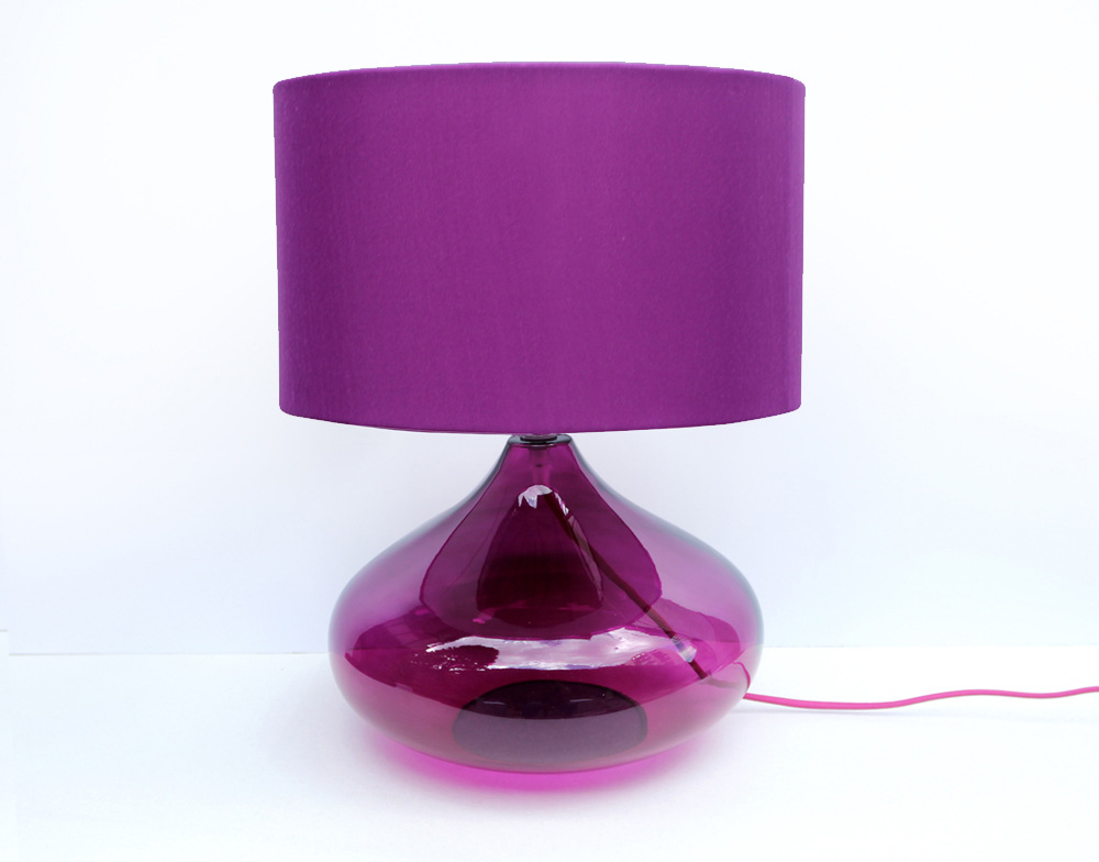 TUDA 33X43cm Free Shipping Modern Purple Table Lamps For Bedroom Bedside Table Lamp Creative Decorative Glass Table Lamp E27 tuda free shipping glass table lamp european retro style table lamp creative nostalgic table lamp for bedroom bedside desk lamp