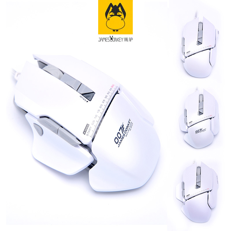 White James Donkey 007 Mac Multi-function Computer USB Wired Length 1.8 M Mechanical Big Mouse Laptop Game LOL Custom Smart Mice lucky john croco spoon big game mission 24гр 004