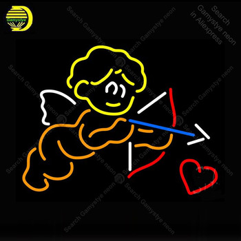 Neon Sign for Cupid Neon Heart Arrow decor Love Display Beer Express shop Neon Light up wall sign Neon Signs for Room Letrero