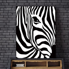 Abstract Wall Picture Poster Living Room Art Decoration Scandinavian Zebra Stripes Nordic Canvas Painting Prints No Frame(China)