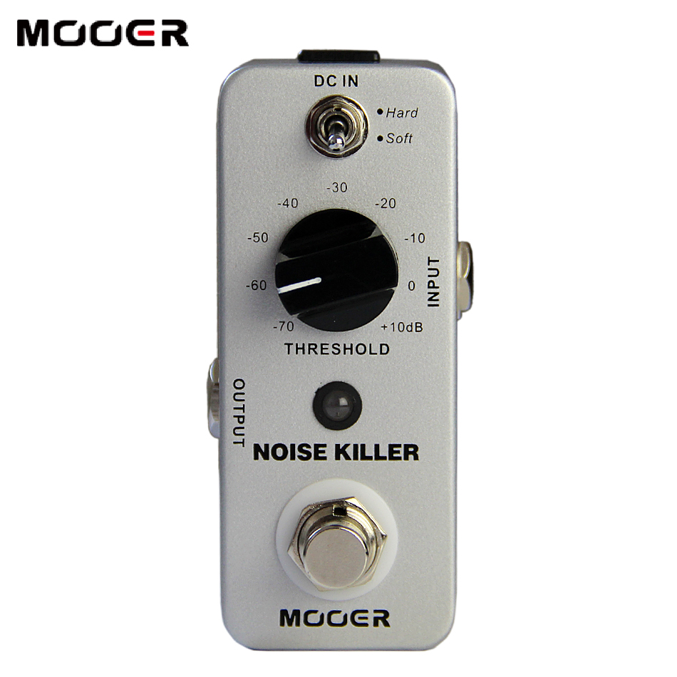 MOOER Noise Killer Noise Reduction Pedal  2 Working Modes: Hard/Soft  True bypass free shipping mooer ensemble queen bass chorus effect pedal mini guitar effects true bypass with free connector and footswitch topper