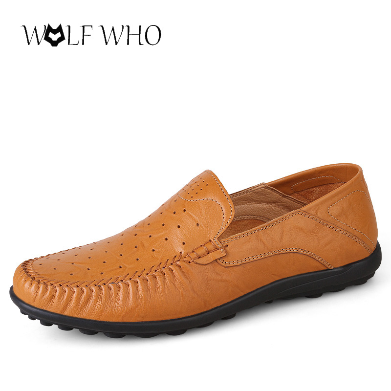 Big size 38-47 Handmade Genuine Leather Mens Shoes Casual Luxury Brand Men Loafers Breathable Driving Shoes Slip On Flats pl us size 38 47 handmade genuine leather mens shoes casual men loafers fashion breathable driving shoes slip on moccasins