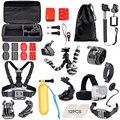 Flexible mini tripod Accessories Set Kit for Gopro hero 5 SJCAM SJ4000 Action Camera Chest head Hand Mount Strap Bag 40