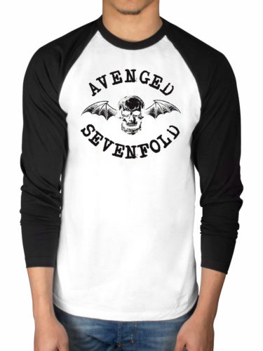 Avenged Sevenfold Classic Deathbat 2 Tone Raglan T shirt men gift Casual long sleeve tee USA size S-3XL