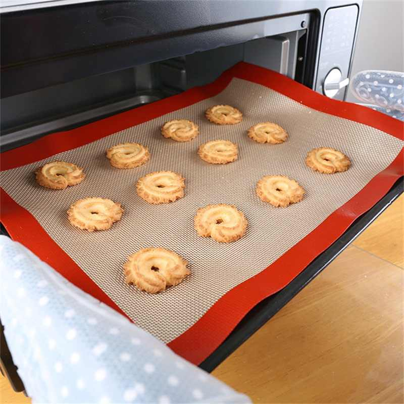 New Baking Sheet Glass Fiber Rolling Dough Mat Cake Cookie Mat Non-Stick Silicone Baking Pad 3 Size