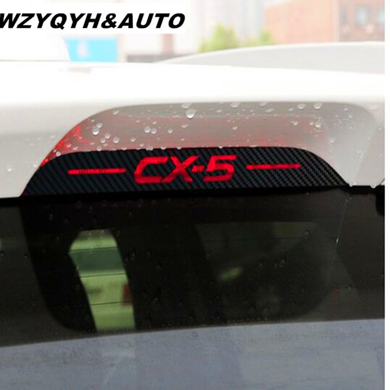 Carbon Fiber Stickers And Decals Rear Rear High Mounted Stop Brake Lamp Light Car-Styling For Mazda Cx-5 Car Accessories