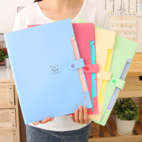 5 Folder Multifunctional A4 File Bag Candy Pp File Folder Data Book Orgnan Bag