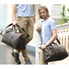 Simple Design Leather Luggage Bag Men Women Large Capacity Travel Bag Vintage Outlook Laptop Tote Men