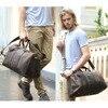 Simple Design Leather Luggage Bag Men Women Large Capacity Travel Bag Vintage Outlook Laptop Tote Men