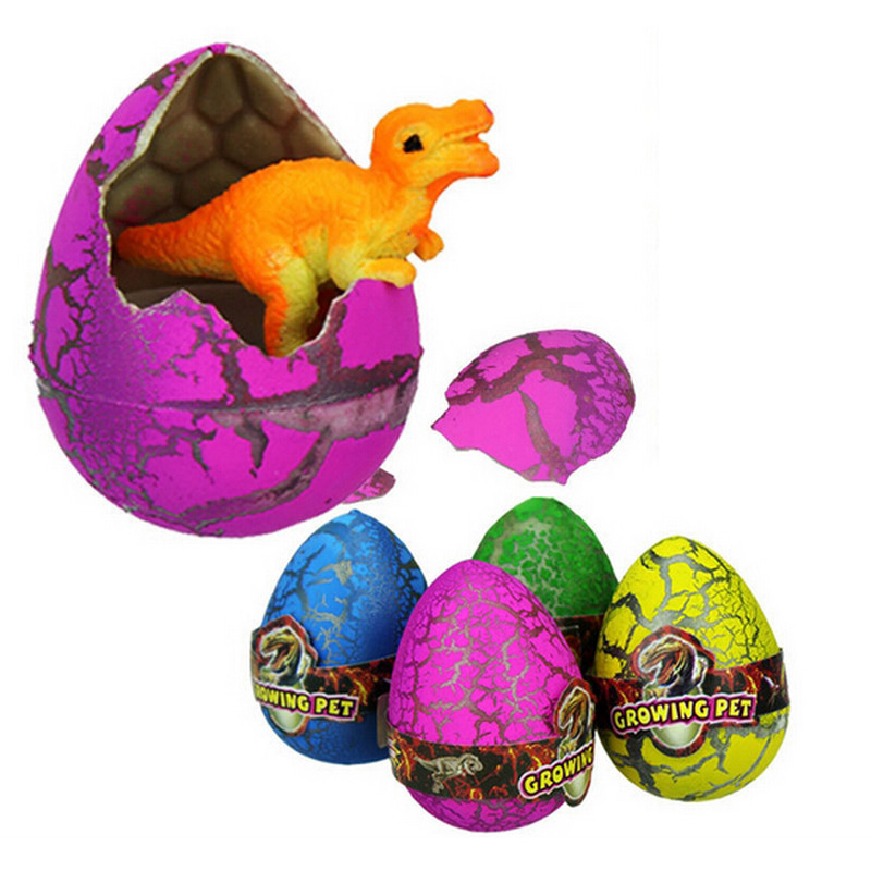 12 Pcs Colorful Large Size Water Hatching Dinosaur Eggs Inflation Growing Dinosaurs Funny Toys for Chidren Gift Novelty Gag Toy
