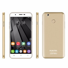 "OUKITEL U7 Plus 5.5"" Smartphone Android 6.0 MTK6737 Quad Core Mobile Phone 2GB RAM Dual Sim TF Fingerprint 4G LTE Cellphone"