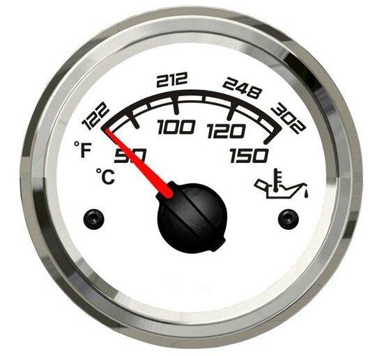 1 pc couleur blanche tout nouveau 12 V/24 V jauges de température de carburant 52mm mètres de température d'huile pour bateau Automobile avec capteur