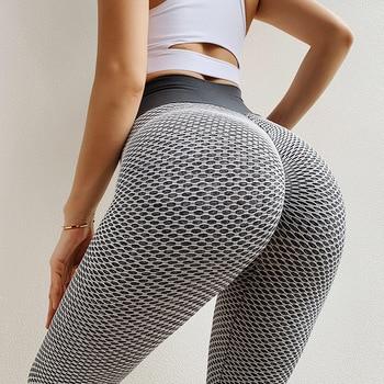 NORMOV Seamless Fitness Women Leggings Fashion Patchwork Print High Waist Elastic Push Up Ankle Length Polyester Leggings 2