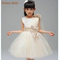 New Year Flower Girls Fashion Party Princess Dress Children Kids Glitter Sparkling Tutu Dresses Birthday Baby