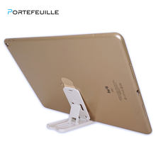 Portefeuille para iPad Mini soporte de escritorio plegable para Apple iPad Pro 9,7 10,5 iPhone 7 8 piso perezoso cama escritorio Tablet Stand(China)