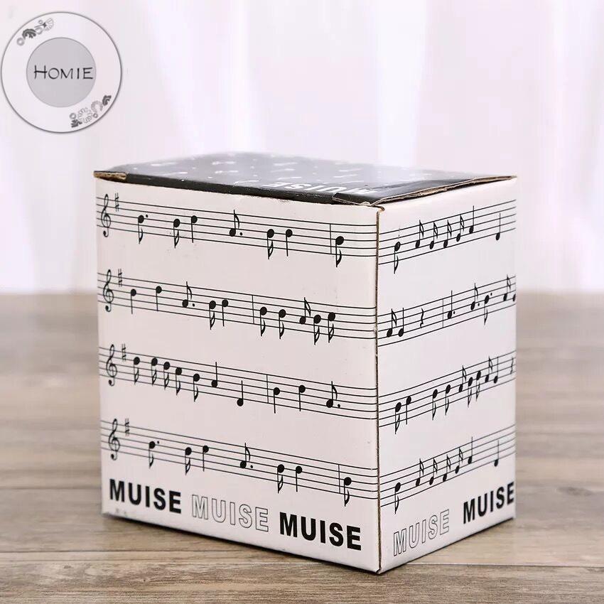 HOMIE Cute Simple piano music Ceramic Coffee Mug Large 300ml Animal Mugs creative Drinkware Tea milk Cups Novelty Newlywed couple04