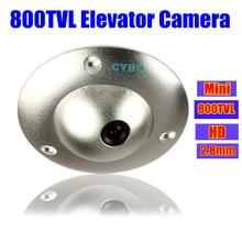 CMOS Color 2.8mm CCTV Security Camera mini wide angle 800TVL HD Video suveillance elevator lift cameras UFO