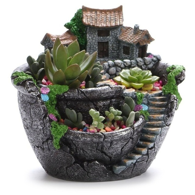 AMW Creative Models Succulent Flower Pot Micro Resin