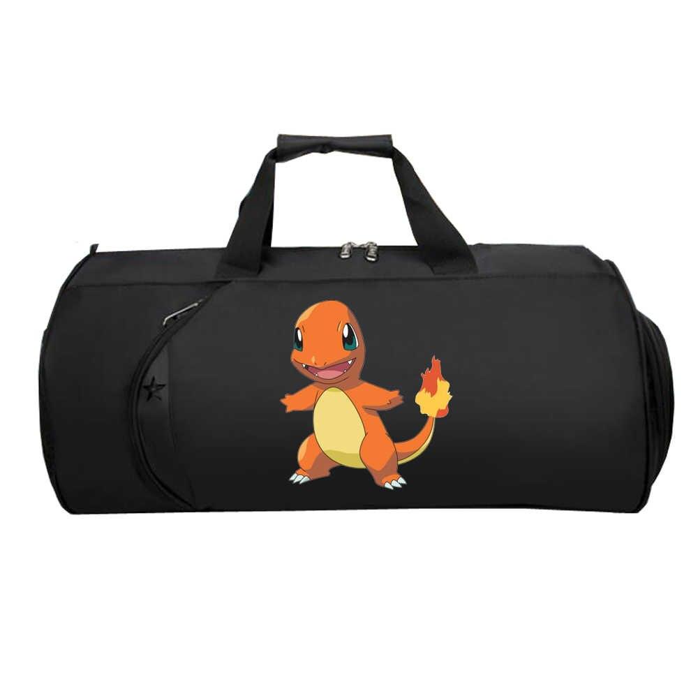 Men Travel luggage bag Luggage Handbag bag teenagers Large Multifunction Suitcase Shoulder Tote Bag for anime Pokemon GO Pikachu