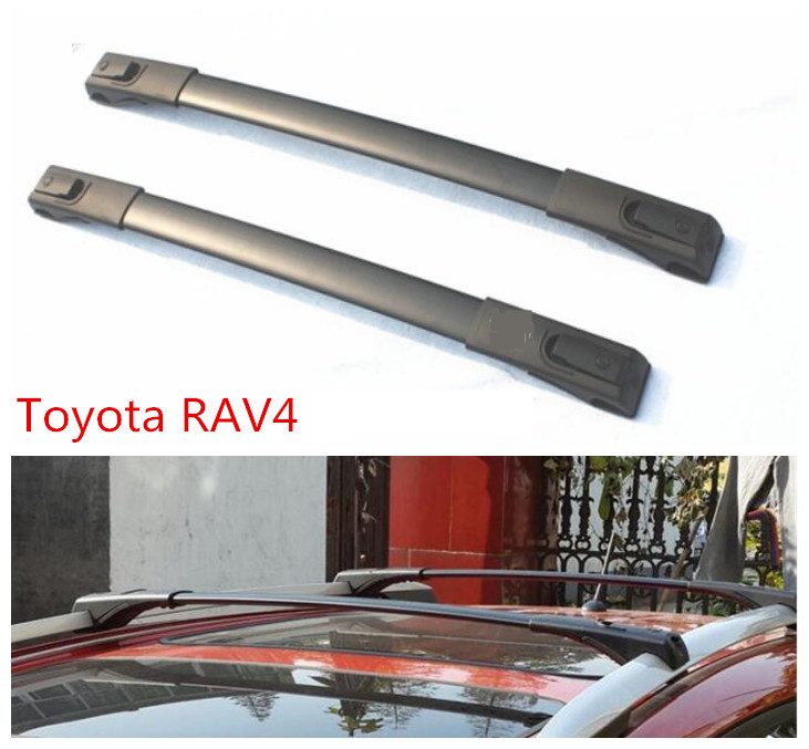 For Toyota RAV4 2013.2014.2015 Car Cross Rack Roof Racks High Quality Brand New Aluminum Screw fixing Auto Luggage Rack one pair car adjustable black front rear roof top rack cross bar for toyota 2013 2017 rav4