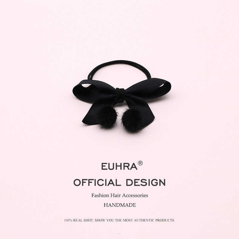 EUHRA/5 цветов, атласная резинка с бантом-узлом, заколка для волос для женщин, повязка для волос, Детская резинка, аксессуары, para el cabello