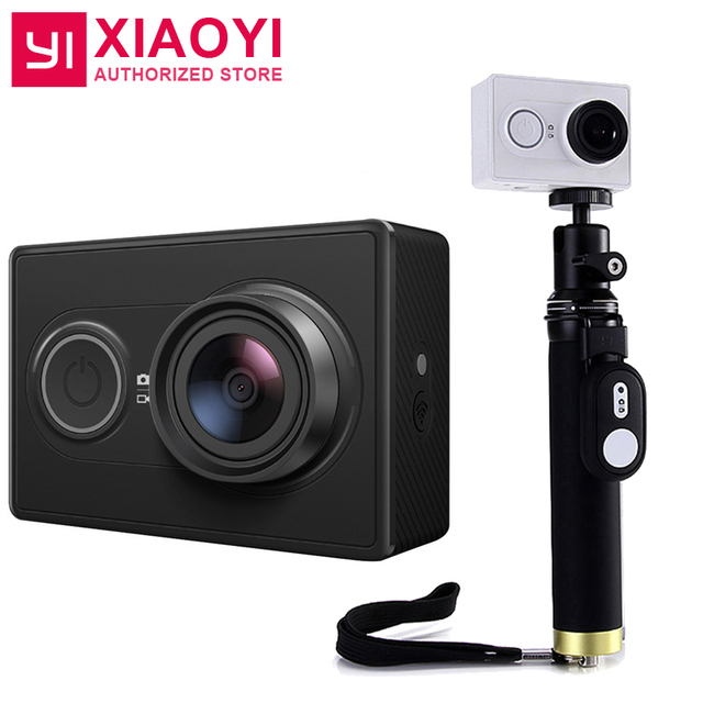 International YI Action Sports Camera Ambarella A7LS 155 Degree 1080P WiFi  Action Cam 3D Noise Reduction With BT Selfiestick