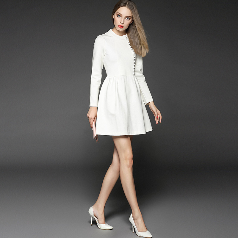 Aliexpress.com : Buy Twods Minimal White Long Sleeve Women Ball ...