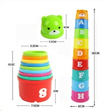 цена Kids Colorful Number Toys Letter Educational Baby Toddler Child Blocks Bricks Math Pile Toys Kits Stacking